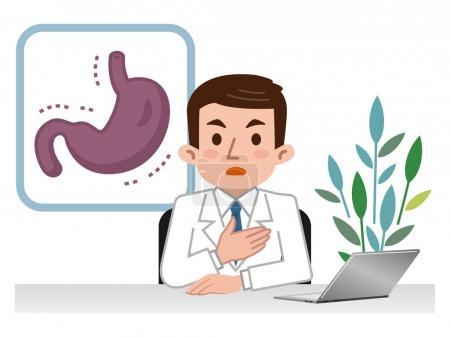 Doctor explaining the weak stomach