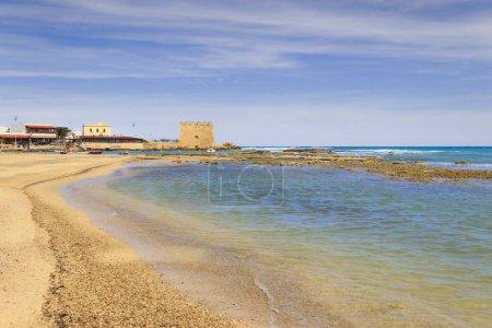 Summer holidays.Torre Santa Sabina beach (Brindisi).- ITALY (Apulia).