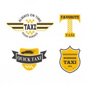 Taxi badge vector illustration