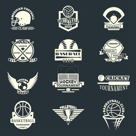 Sport team badge vector set