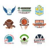 Poster Sport team badge vector set