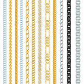Different chains link vector isolated on white