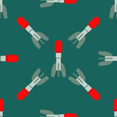 Missile rocket seamless pattern in flat style Cartoon missile vector illustration background