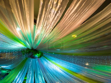 Beautiful Colorful Wedding Decoration on Ceiling