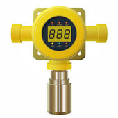Vector gas detector Yellow gas meter with digital LCD display