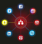 Social Network Infographic Icons