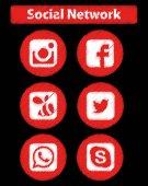 Social Network Scrawl Icons