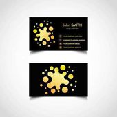 Golden Business Card Template Vector Illustration Eps File