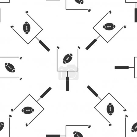American football with goal post icon seamless pattern on white background. Flat design. Vector Illustration