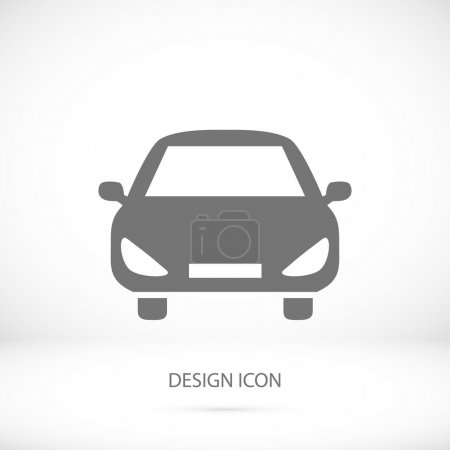 Illustration pour Icône de voiture simple, illustration vectorielle - image libre de droit
