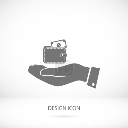 Wallet in hand icon