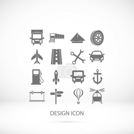 Illustration for Transport  icons set, vector illustration - Royalty Free Image