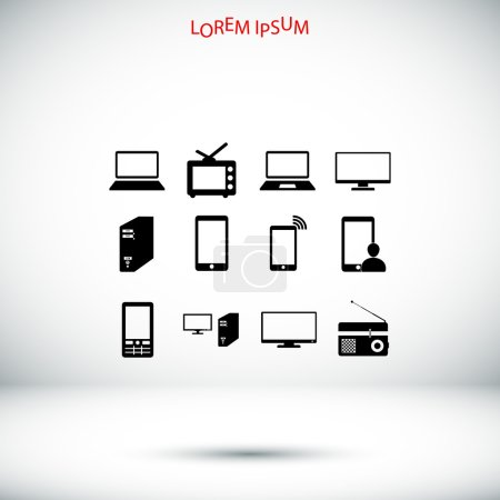 Communication devices icons