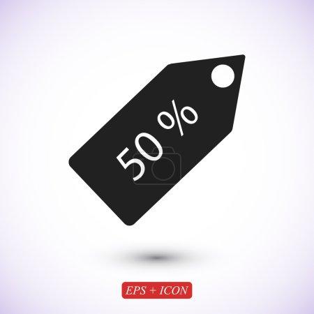 50 percent discount label icon