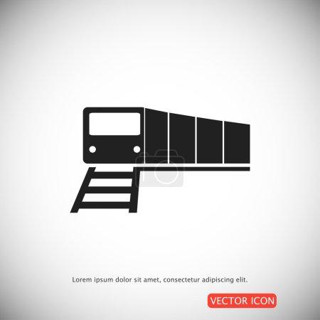 Illustration pour Illustration vectorielle de l'icône simple du train, meilleure icône plate vectorielle, EPS - image libre de droit