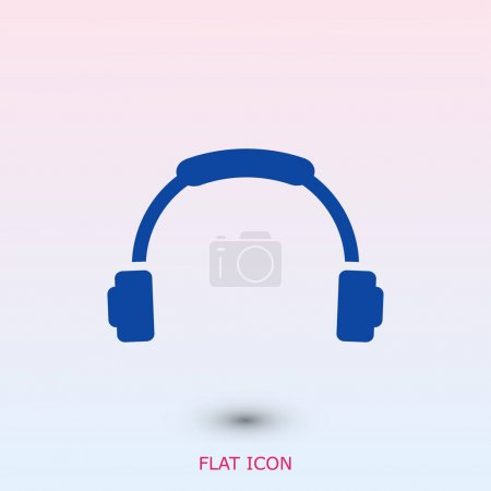 headphone flat icon
