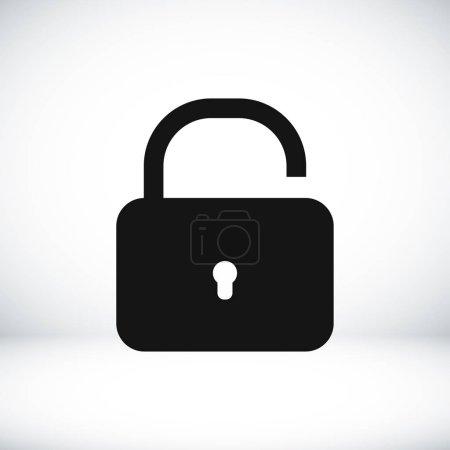 lock simple icon