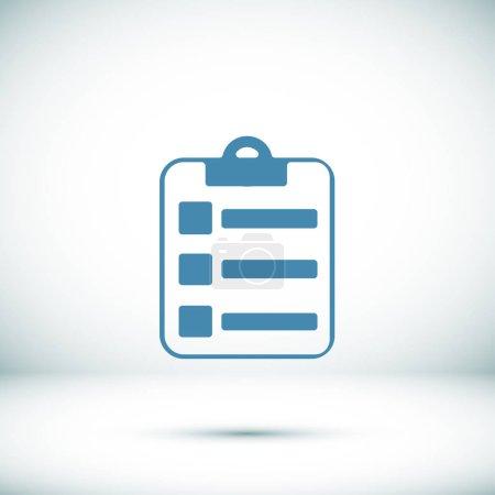 Illustration pour Illustration vectorielle de l'icône web du rapport - image libre de droit