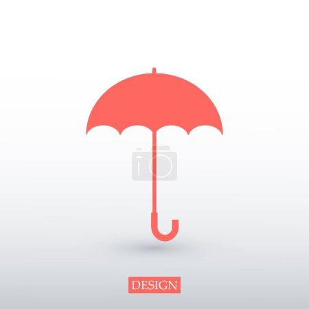 Red umbrella icon