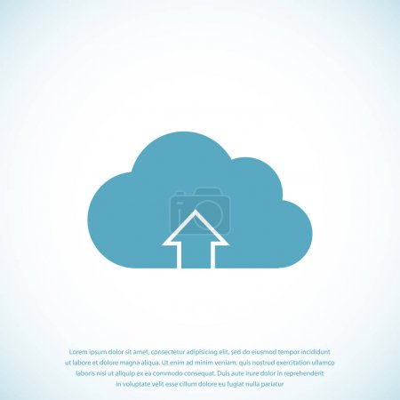 Illustration for Vector illustration of Download from cloud icon - Royalty Free Image