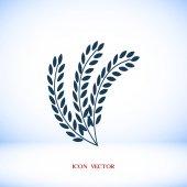 Vector illustration of wheat organic icon
