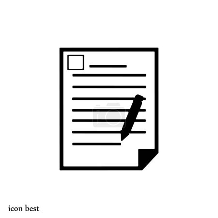 Illustration for Office document icon, vector illustration - Royalty Free Image