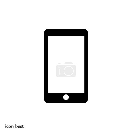 Illustration for Mobile phone icon, vector illustration - Royalty Free Image