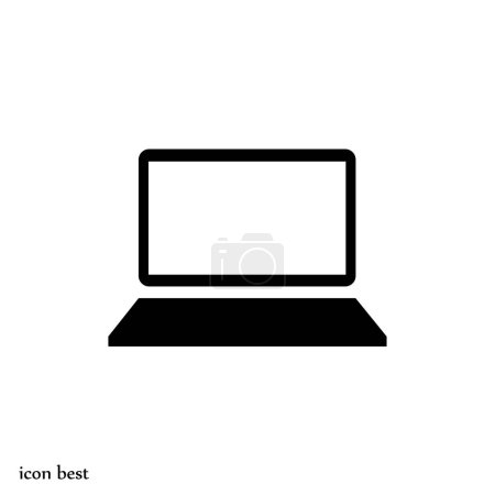 Illustration for Computer simple icon, vector illustration - Royalty Free Image