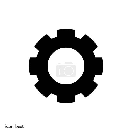 Illustration for Gear simple icon, vector illustration - Royalty Free Image