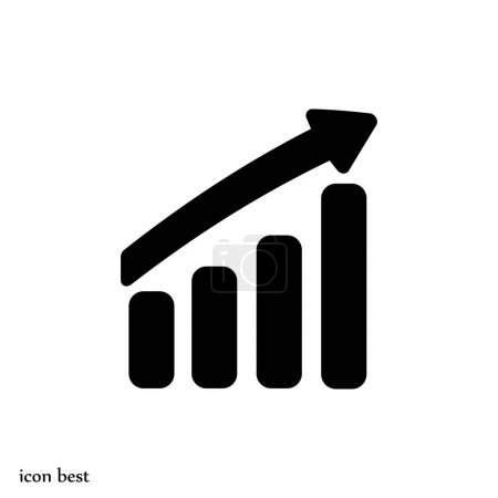 Illustration for Graphic chart icon, vector illustration - Royalty Free Image