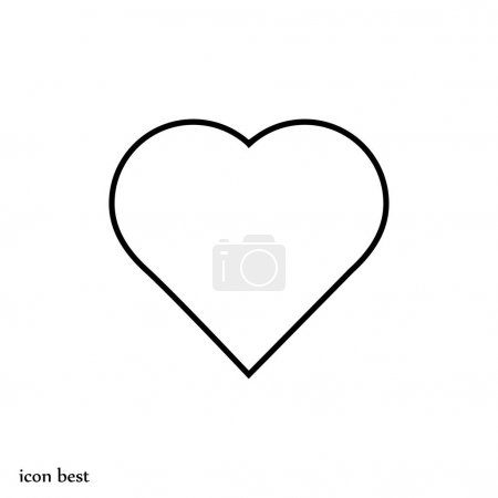 heart simple icon
