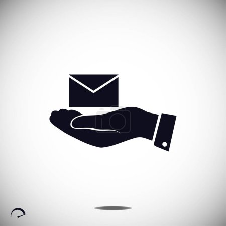 email in hand icon