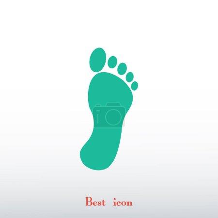 Illustration pour Pied icône plate sur fond clair - image libre de droit