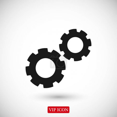 Gear wheels icon
