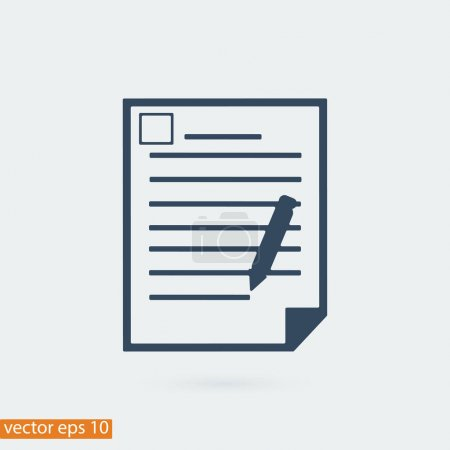 Illustration for Office document icon, vector best flat icon - Royalty Free Image