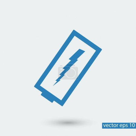 Discharged battery icon