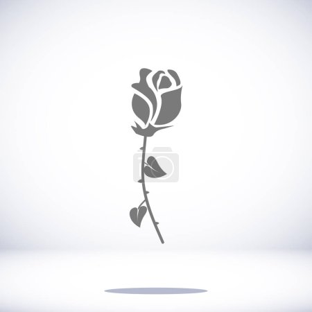 Illustration for Rose icon, vector best flat icon, EPS - Royalty Free Image