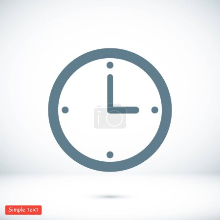 Illustration for Clock flat icon, vector flat icon - Royalty Free Image