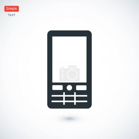 Mobile phone simple icon