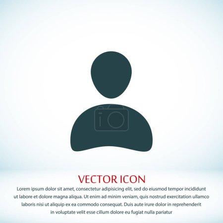 Man flat icon