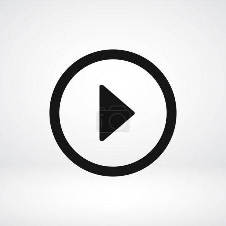 Illustration pour Illustration vectorielle de l'icône du bouton play - image libre de droit