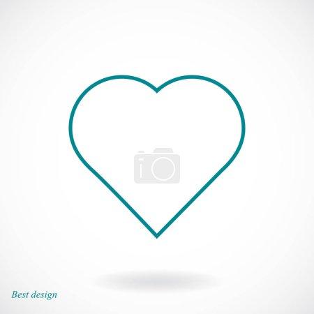 shape heart icon