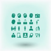 Business figures icons