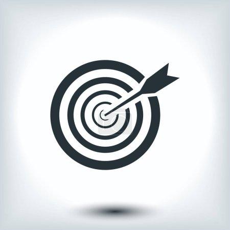 illustration of  aim icon