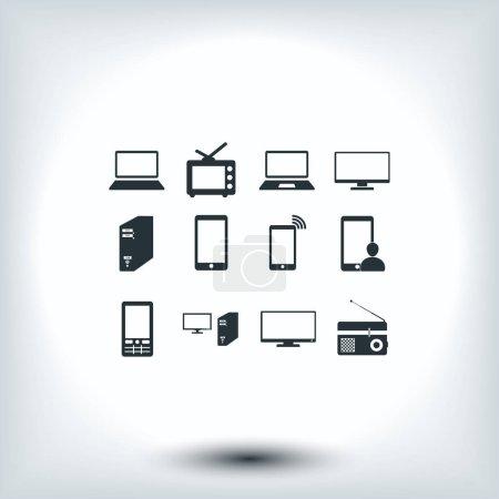 Communication device icons