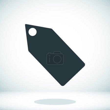 Black tag icon