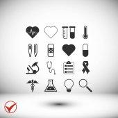 Medical flat icon vector illustration