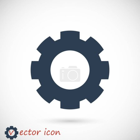 Illustration for Gear icon vector illustration - Royalty Free Image