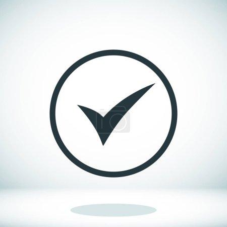 Black ok icon