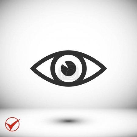 eye icon  illustration